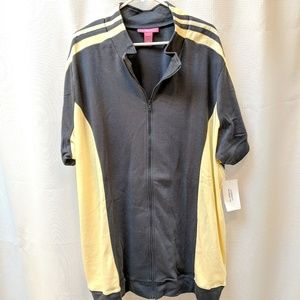 Woman Within zip up athletic wear, plus 4X